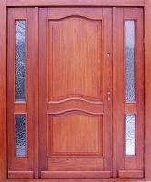 drzwi dębowe wejściowe z dostawkami
