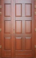 drzwi dębowe kasetonowe wejściowe