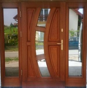 drzwi Łeska drewniane