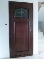 drzwi wzór 76  wc orzech